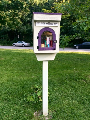 Our very own Little Free Library!